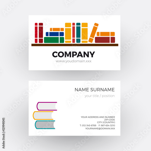 Vector abstract book and bookstore business card stock image and vector abstract book and bookstore business card reheart Images