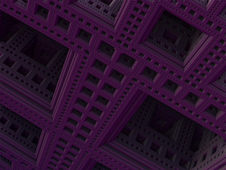 3D abstract background from strange shapes, 3D illustration,