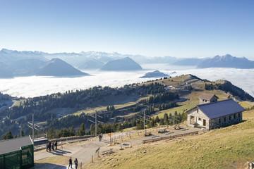Alpenpanorama in der Schweiz auf der Rigi