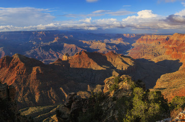 Startling view of Grand Canyon from South Rim, Arizona, United S