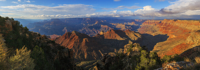 Beautiful view of Grand Canyon from South Rim, Arizona, United S