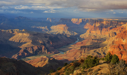 Awesome view of Grand Canyon from South Rim, Arizona, United Sta