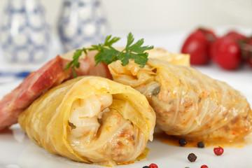 Stuffed cabbage rolls. Sarma.