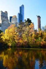 Central Park in the autumn, New York City, USA.