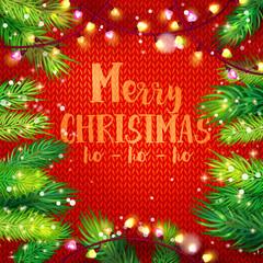 Merry Christmas card with holidays frame