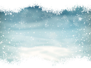 Snow landscape background. EPS 10