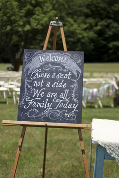 Wedding Decor Vintage Chalkboard Sign Seating