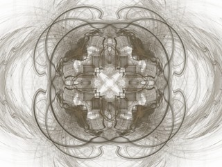 Abstract fractal with gray pattern