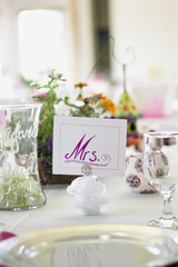 Mrs. Wedding Place Card for the Bride