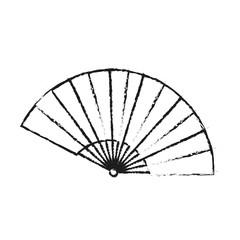 Fan icon. China cultura asia chinese theme. Isolated design. Vector illustration
