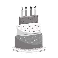 delicious cake birthday card vector illustration design