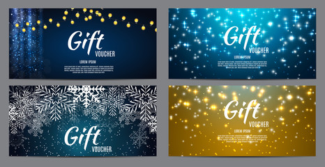 Christmas and New Year Gift Voucher, Discount Coupon Template Co