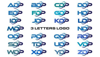 3 letters modern generic swoosh logo ADP, BDP, CDP, DDP, EDP, FDP, GDP, HDP, IDP, JDP, KDP, LDP, MDP, NDP, ODP, PDP, QDP, RDP, SDP, TDP, UDP, VDP, WDP, XDP, YDP, ZDP