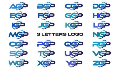3 letters modern generic swoosh logo AGP, BGP, CGP, DGP, EGP, FGP, GGP, HGP, IGP, JGP, KGP, LGP, MGP, NGP, OGP, PGP, QGP, RGP, SGP, TGP, UGP, VGP, WGP, XGP, YGP, ZGP