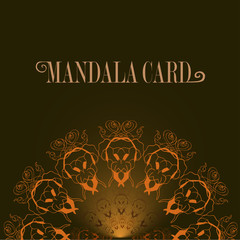 Cards or invitations with mandala pattern. Black background