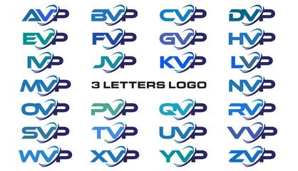 3 letters modern generic swoosh logo AVP, BVP, CVP, DVP, EVP, FVP, GVP, HVP, IVP, JVP, KVP, LVP, MVP, NVP, OVP, PVP, QVP, RVP, SVP, TVP, UVP, VVP, WVP, XVP, YVP, ZVP