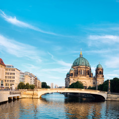 Wall Mural - Afternoon view on Berlin Cathedral over Spree river