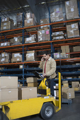 Man working in distribution warehouse