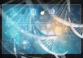 Medicine user interface, 3D rendering
