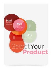 Business flyer circle abstract background