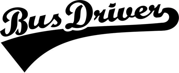 Bus driver retro font