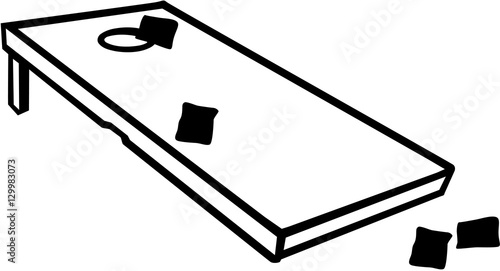 u0026quot cornhole game with bags u0026quot  stock image and royalty