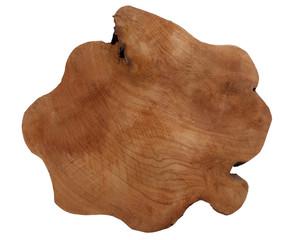 Teak wood bole slice