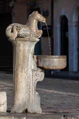 17th century fountain in Taormina, Italy.