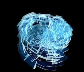 半透明な幾何学的な惑星のイメージ
