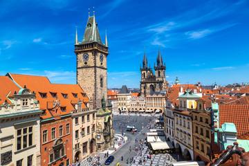 Wall Murals Prague Panoramic aerial view of Prague