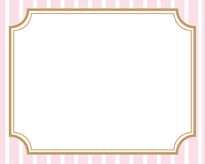 枠 フレーム ピンクストライプの背景
