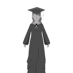 student graduation uniform icon vector illustration design