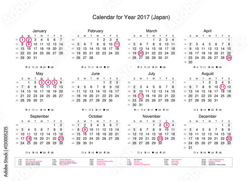 Year Calendar Japan : Quot calendar of year with public holidays and bank