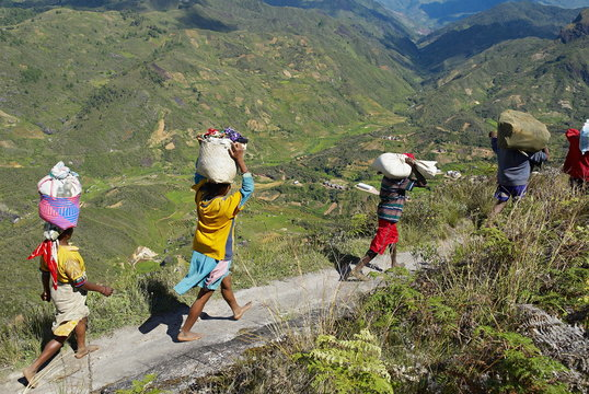 Zafimaniry country people back from market, Madagascar
