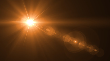 abstract of lighting for background. digital lens flare in dark background