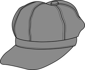 newsboy cap illustration [vector]
