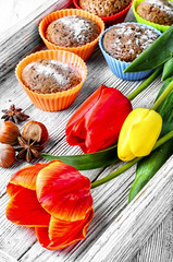cupcakes and tulips