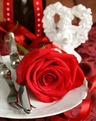 Flowers and gifts for the holiday symbols St. Valentine