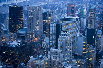 Evening over New York, United States of America, North America