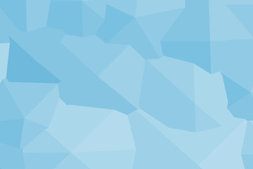 Blue polygonal mosaic background. 3D vector illustration.