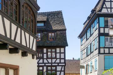 Traditional houses in La Petite France, Strasbourg, Alsace, Fran