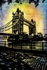 London art vintage illustration