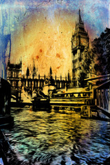 London art vintage illustration