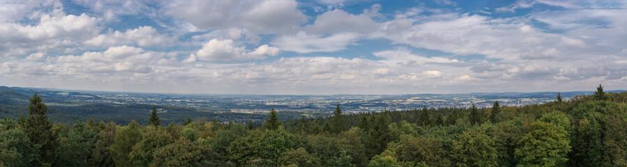 Panoramablick Lipperland und den Teutoburger Wald.