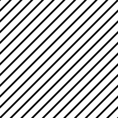 Seamless black and white diagonal lines pattern