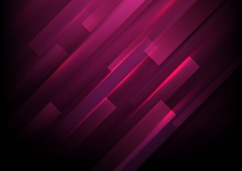 Abstract rectangles with purple lights background