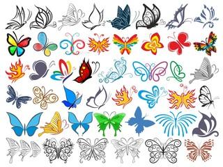 Logos butterflies.