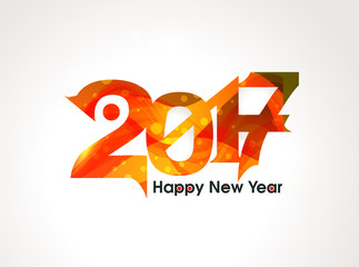 Abstract  happy new year text background