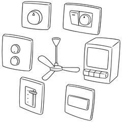vector set of fan switch