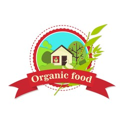 Natural food house logo.